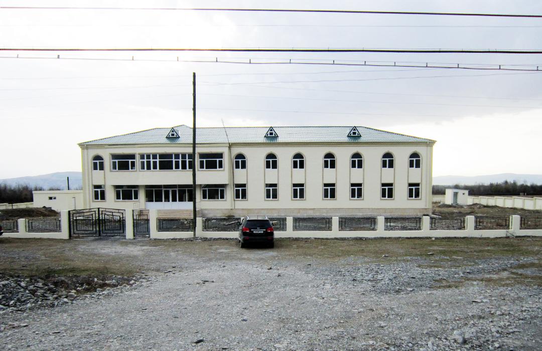 Şəki rayonu Aşağı Göynük kənd xəstəxana binasının tikintisi aparılıb