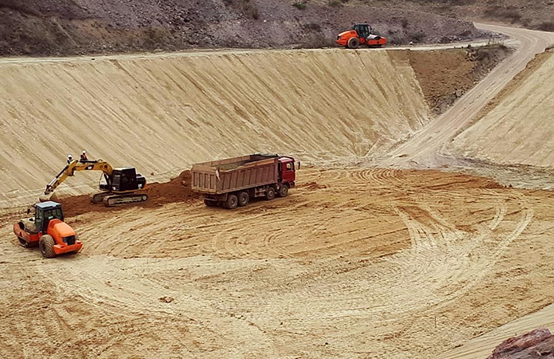 """2017-2018-ci il, """"AZERGOLD"""" QSC-nin Daşkəsən rayonu Çovdar filiz emalı sahəsində topa aşındırma sahəsi və ehtiyat sianid hovuzunun inşası Layihəsi."""